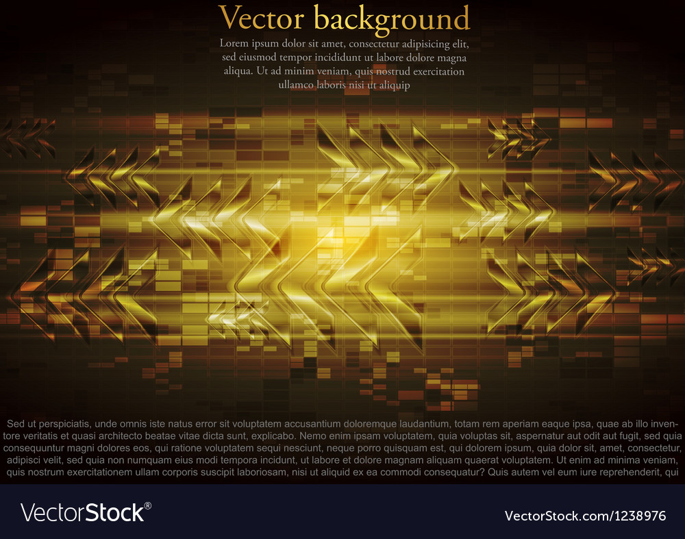 Yellow tech design with abstract glossy arr vector | Price: 1 Credit (USD $1)