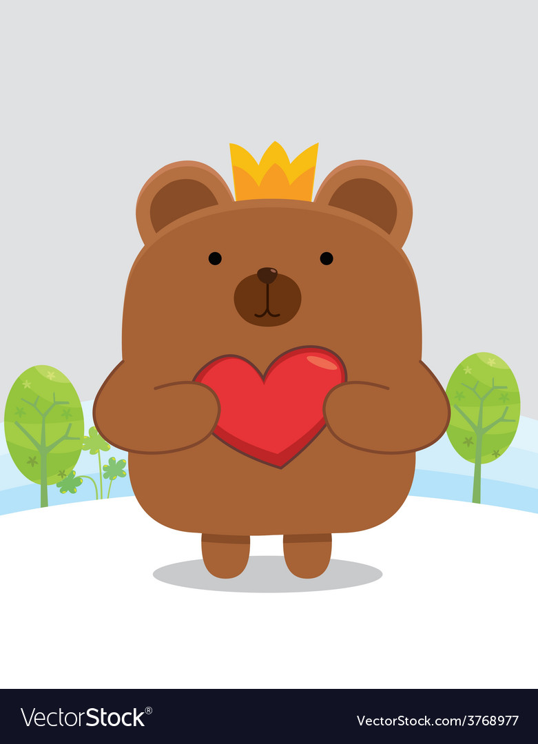 Bear heart vector | Price: 1 Credit (USD $1)
