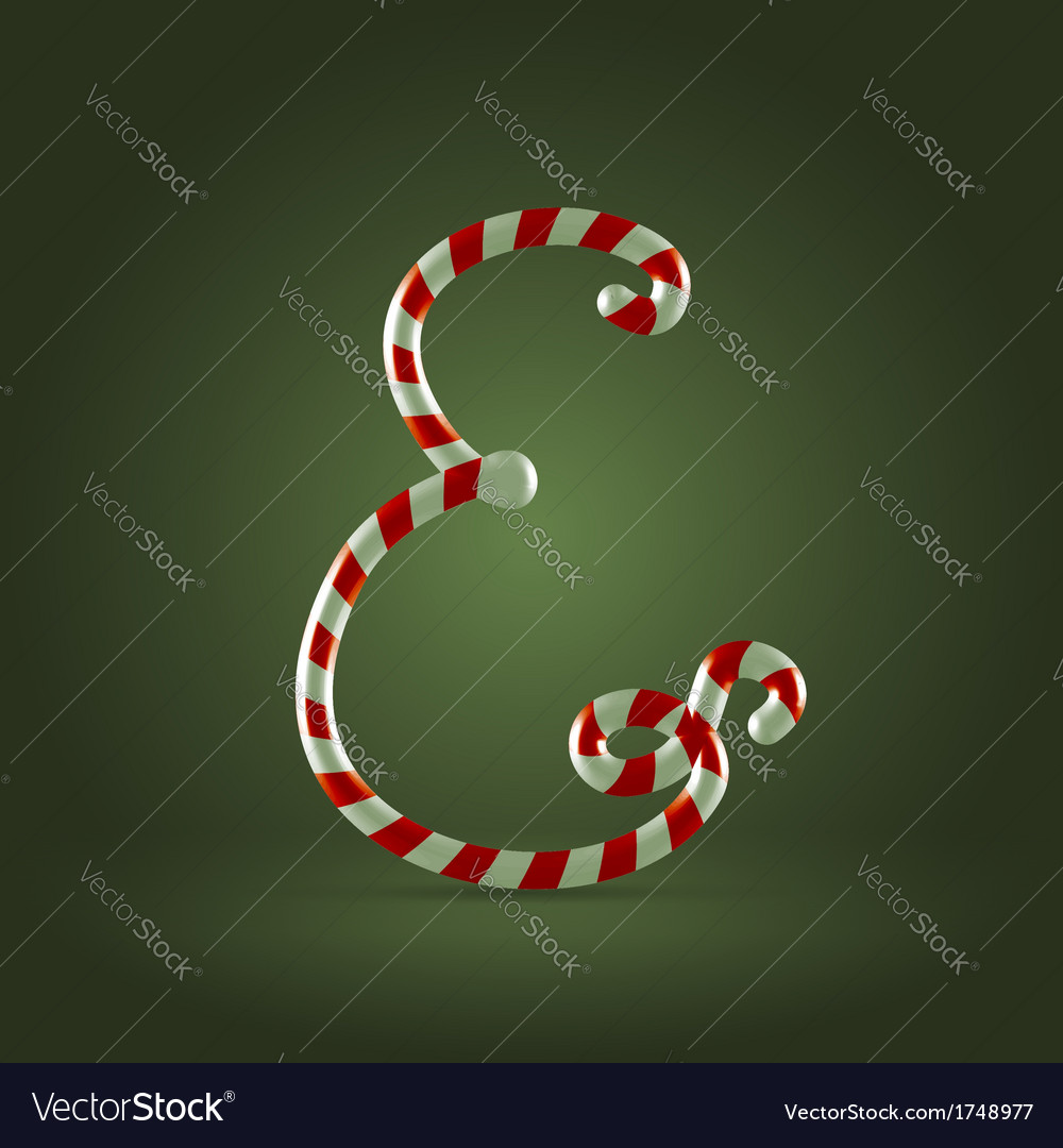 Candy cane abc e vector | Price:  Credit (USD $)