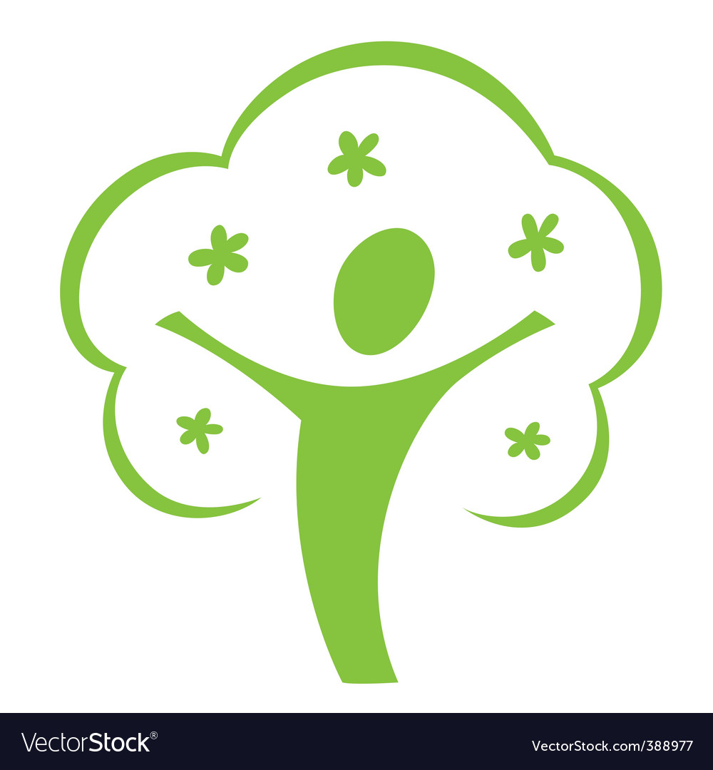 Cartoon tree icon vector | Price: 1 Credit (USD $1)