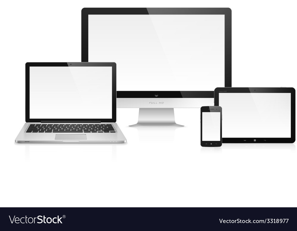 Electronic devices vector | Price: 1 Credit (USD $1)