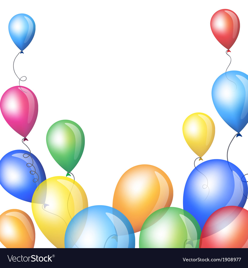 Holiday backgrounds with balloons frame vector | Price: 1 Credit (USD $1)