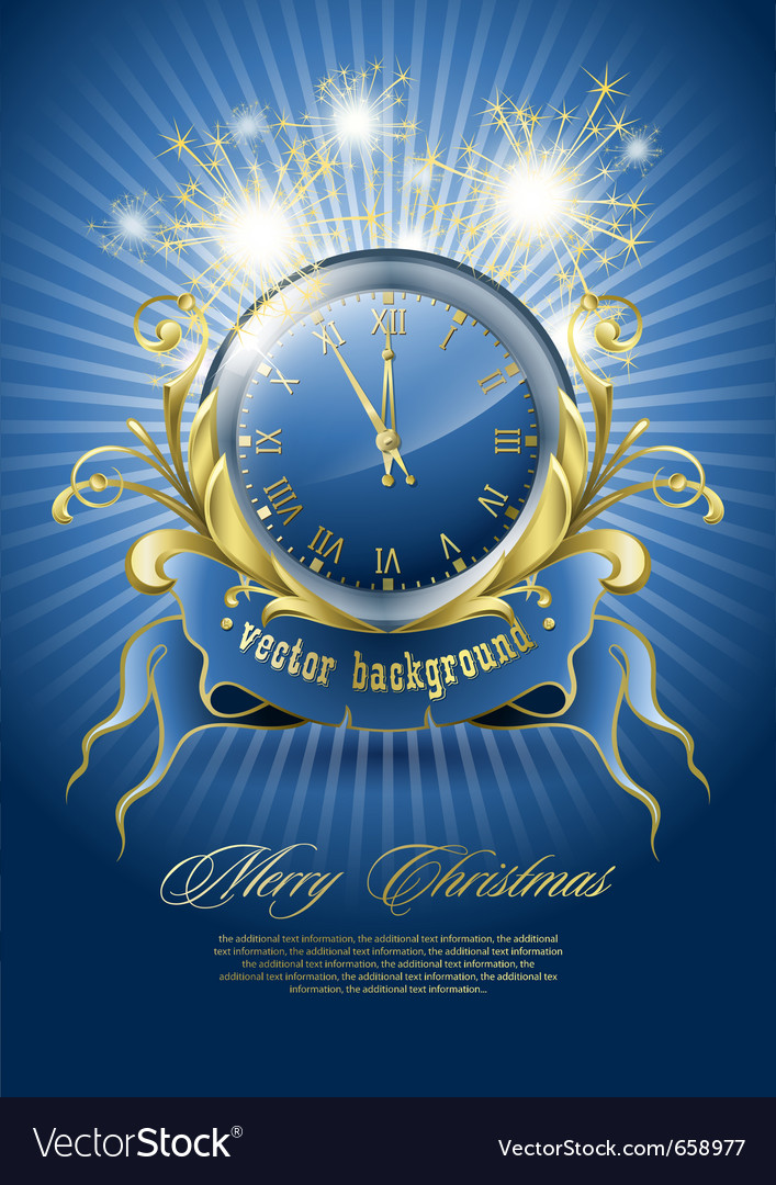 New year clock vector | Price: 3 Credit (USD $3)