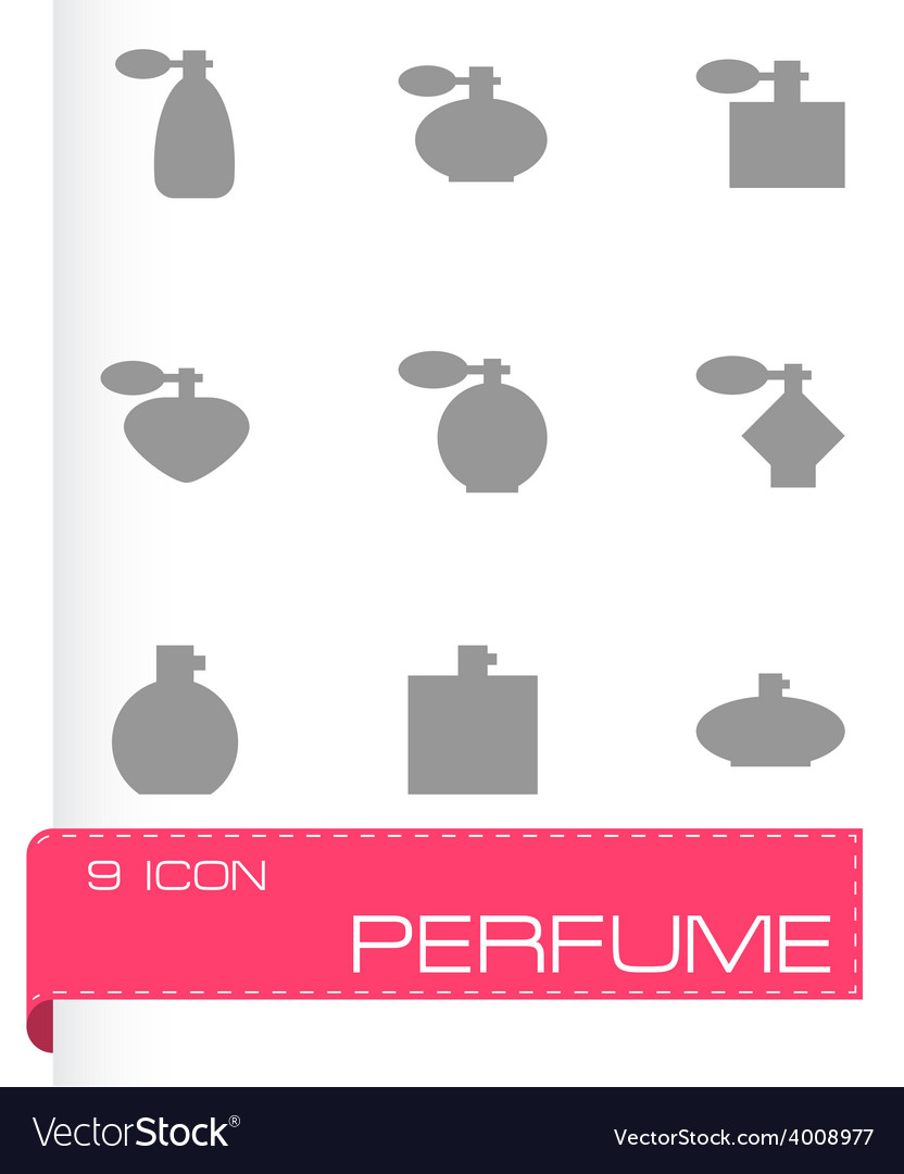 Perfume icon set vector | Price: 1 Credit (USD $1)