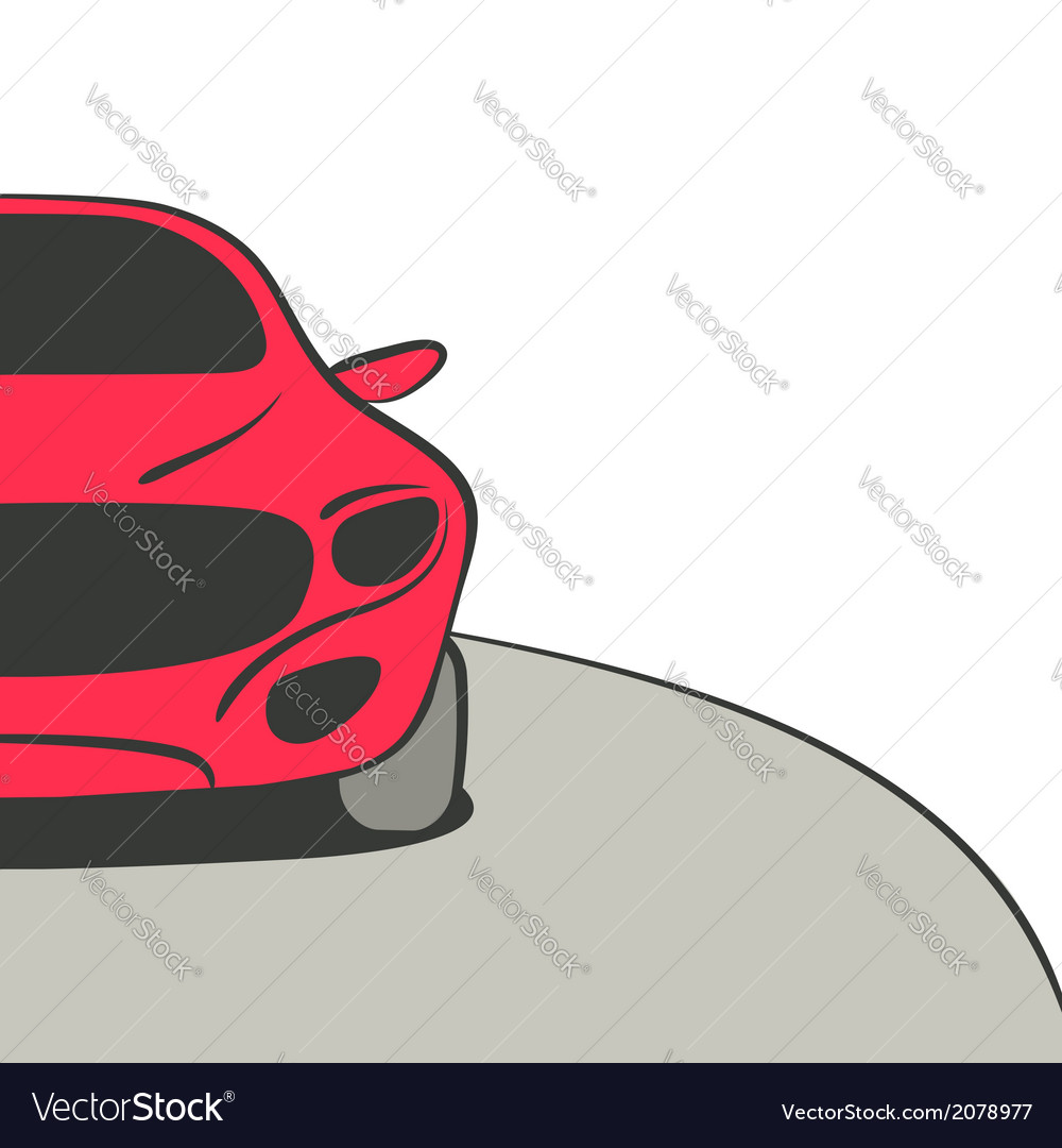 Red car background vector | Price: 1 Credit (USD $1)