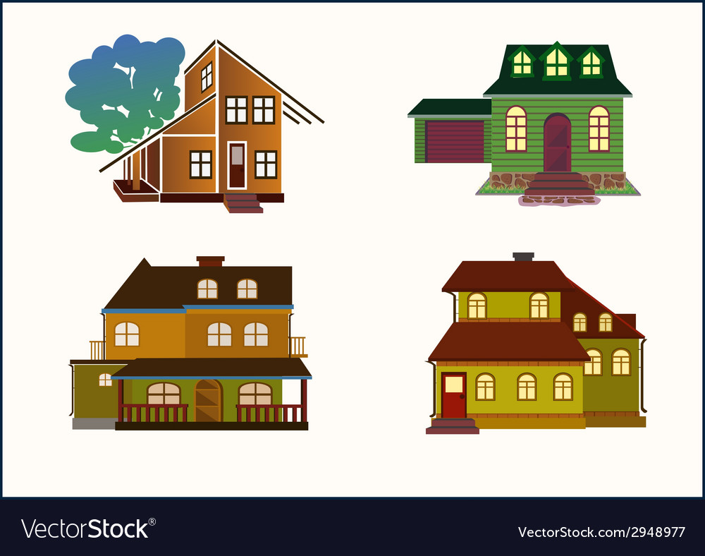 Set houses vector | Price: 1 Credit (USD $1)