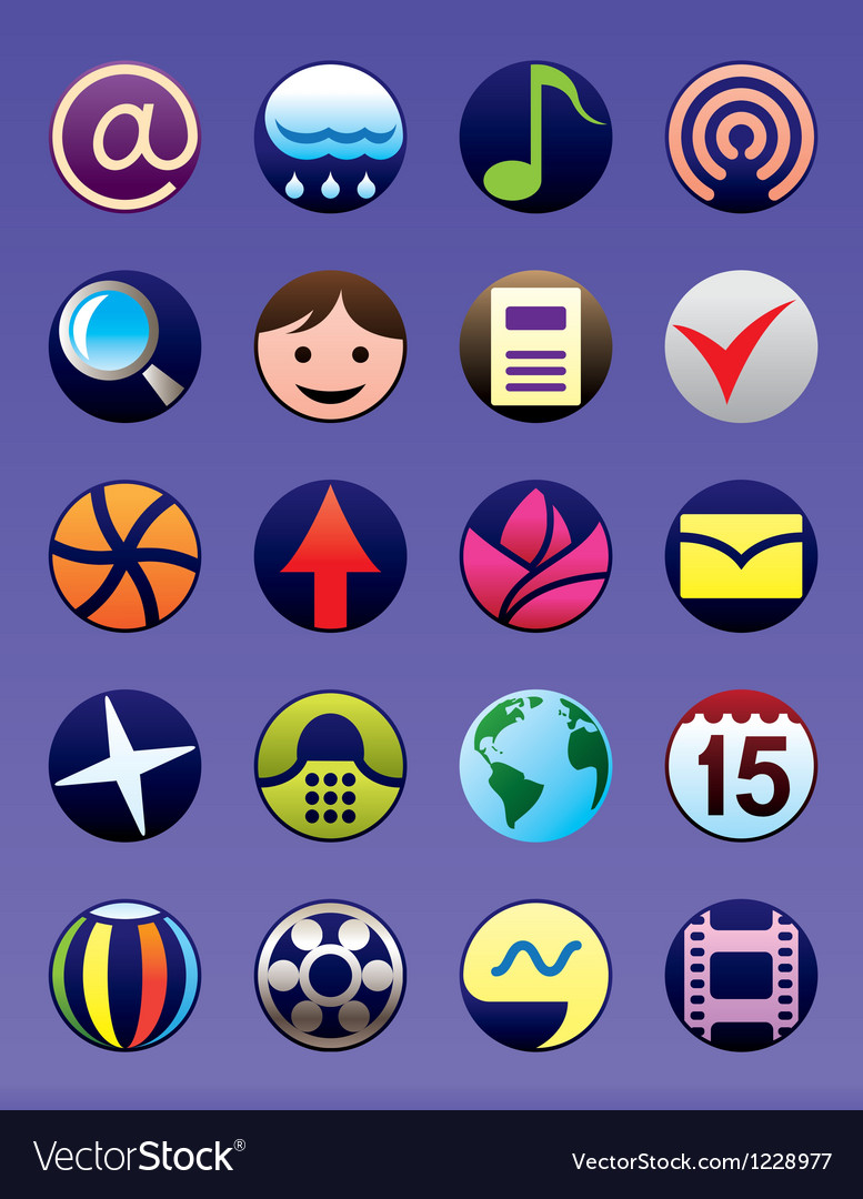 Smartphone and gsm menu icons set vector | Price: 1 Credit (USD $1)
