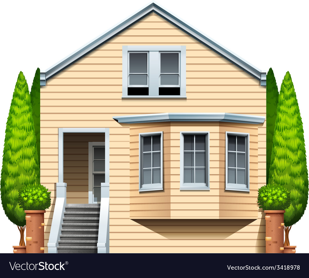 A house with houseplants vector | Price: 3 Credit (USD $3)