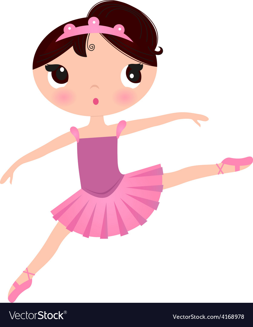 Beautiful cute ballerina in nice dress vector | Price: 1 Credit (USD $1)
