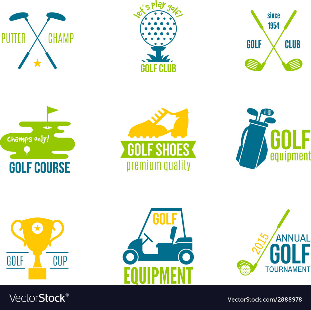 Golf label set vector | Price: 1 Credit (USD $1)