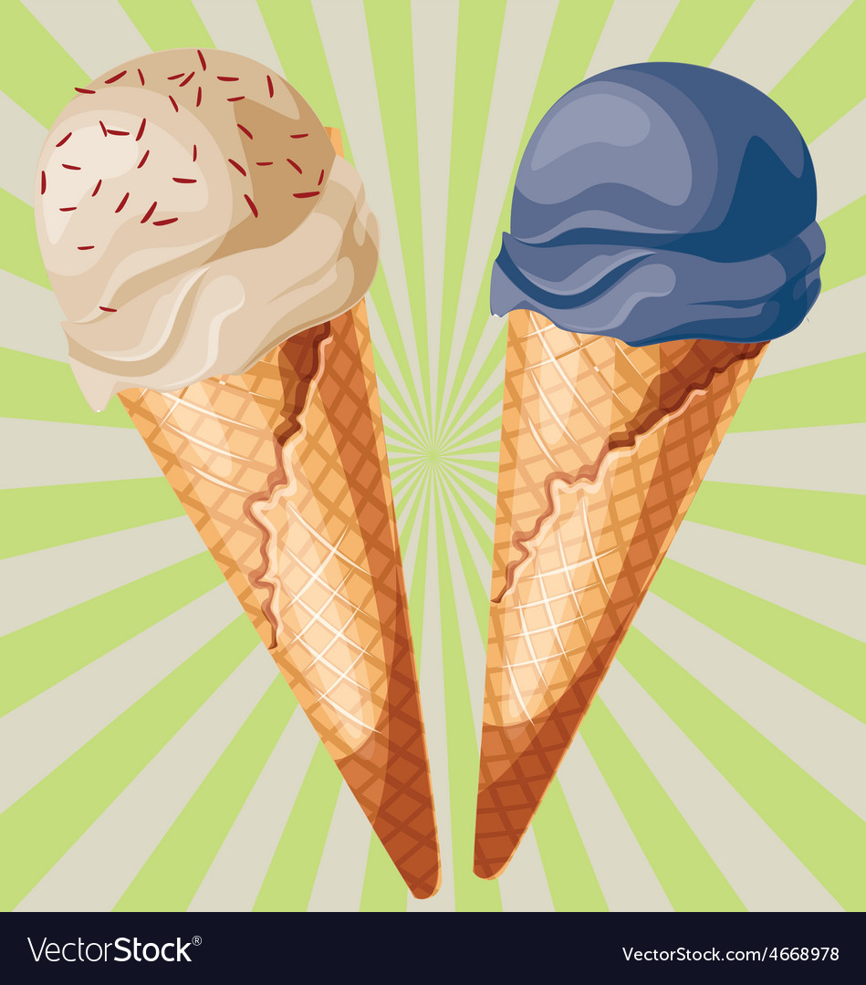 Ice cream cone vector | Price: 1 Credit (USD $1)