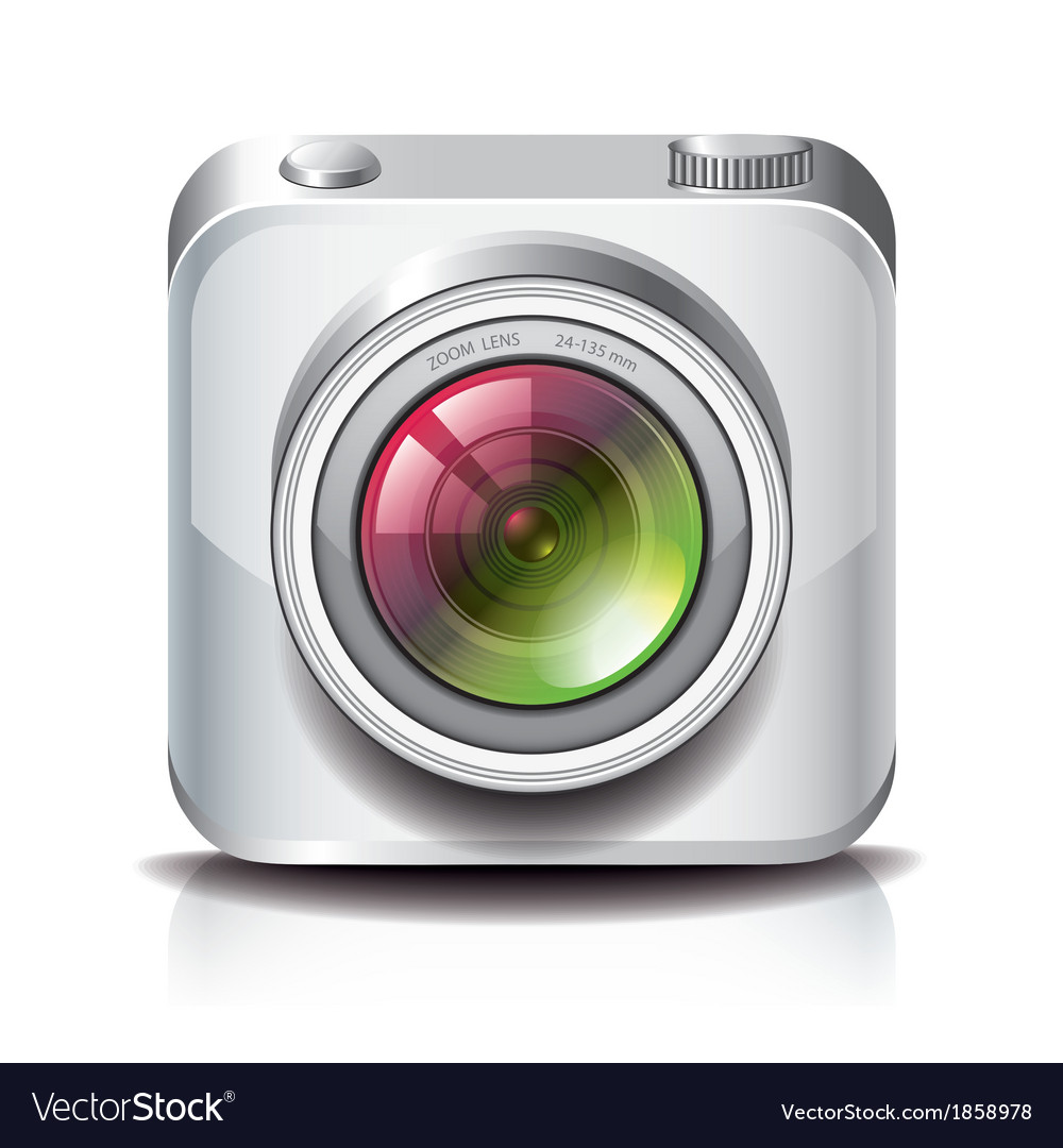 Object camera apps icon white vector | Price: 1 Credit (USD $1)