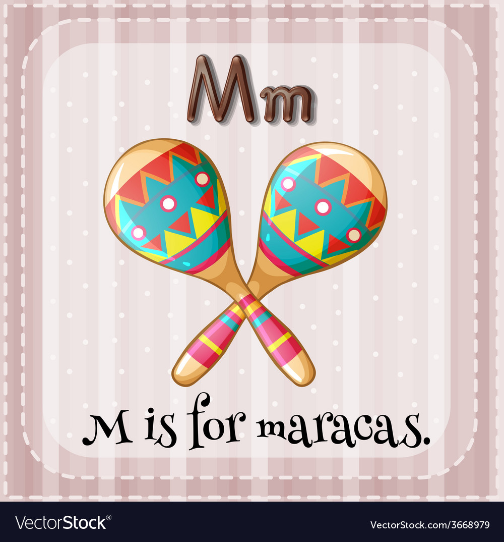 A letter m for maracas vector | Price: 3 Credit (USD $3)
