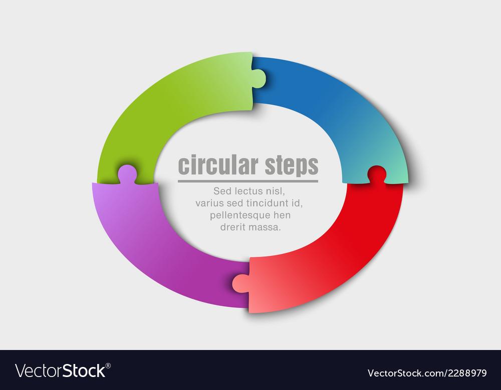 Circular progress steps vector | Price: 1 Credit (USD $1)