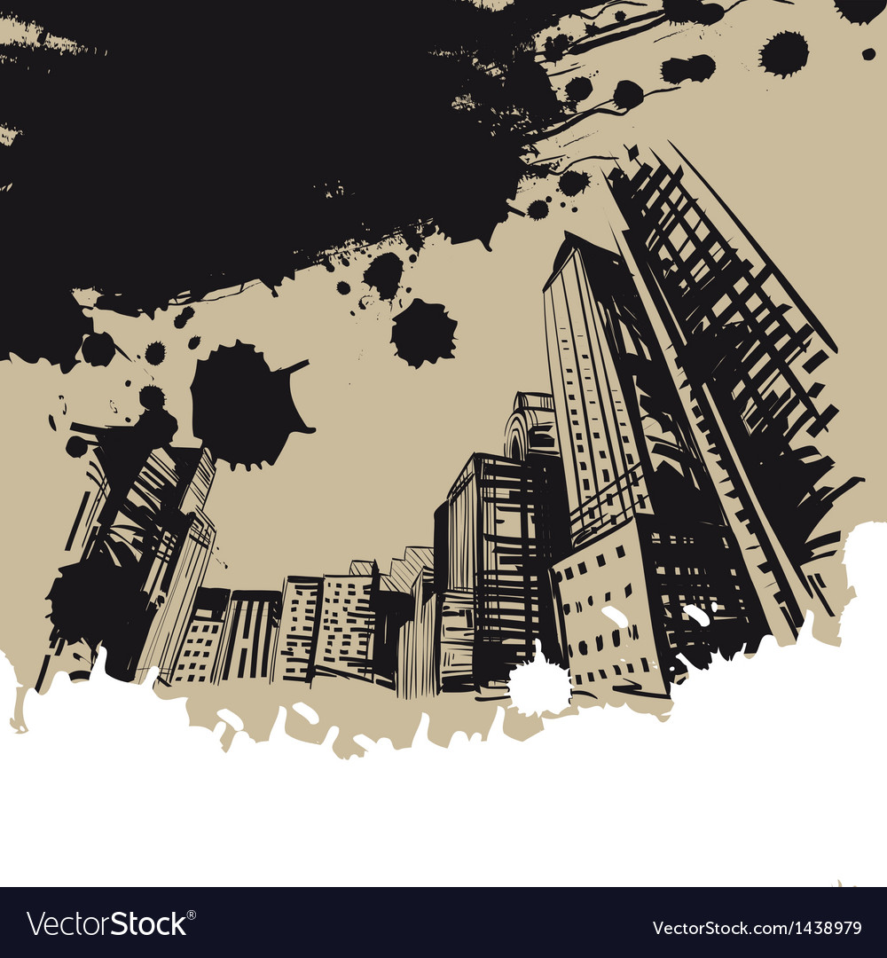 City hand drawn vector | Price: 1 Credit (USD $1)