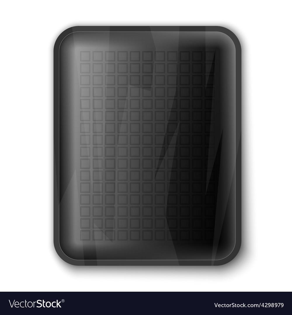 Empty black food tray vector | Price: 3 Credit (USD $3)