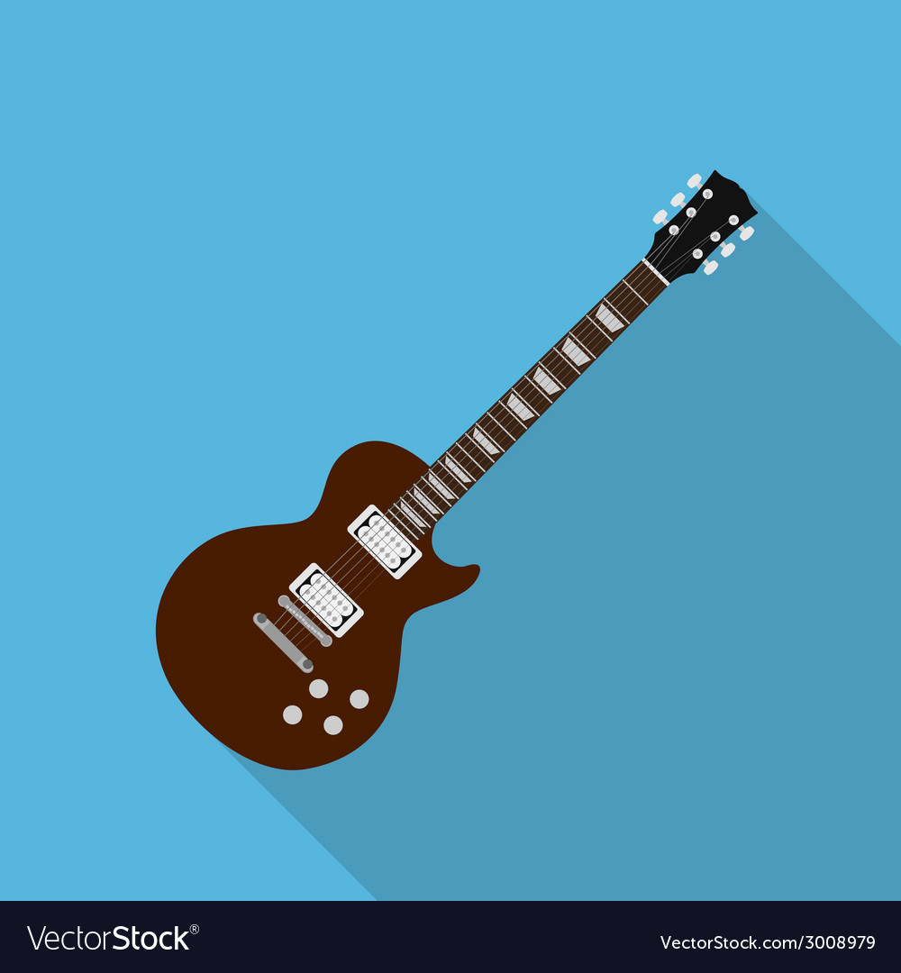 Flat guitar 2 vector | Price: 1 Credit (USD $1)