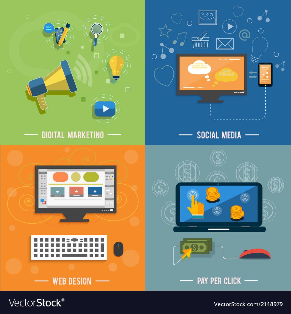 Icons for web design seo social media vector | Price: 1 Credit (USD $1)