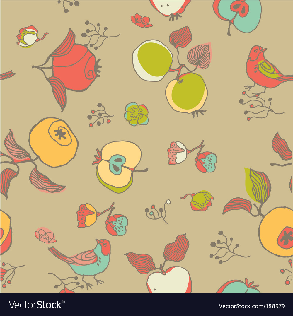 Nature seamless pattern vector | Price: 1 Credit (USD $1)