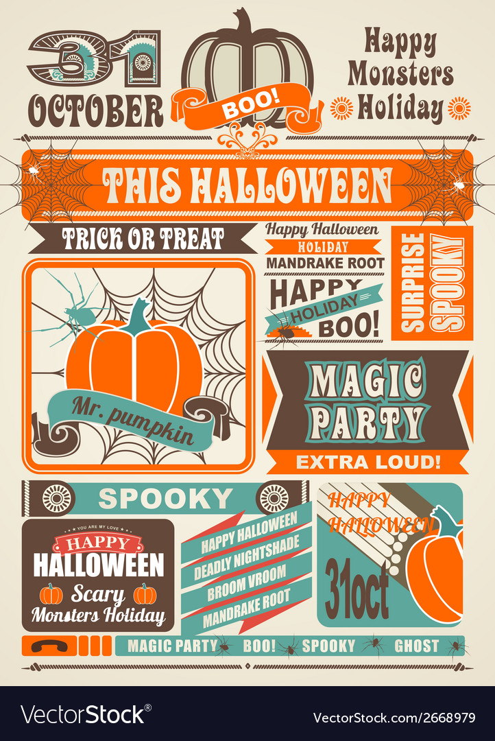 News newspaper festive halloween vector | Price: 1 Credit (USD $1)