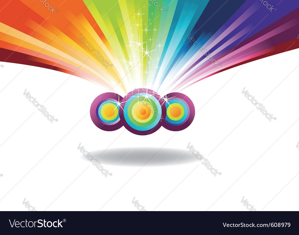 Rainbow banner with sparks vector | Price: 1 Credit (USD $1)