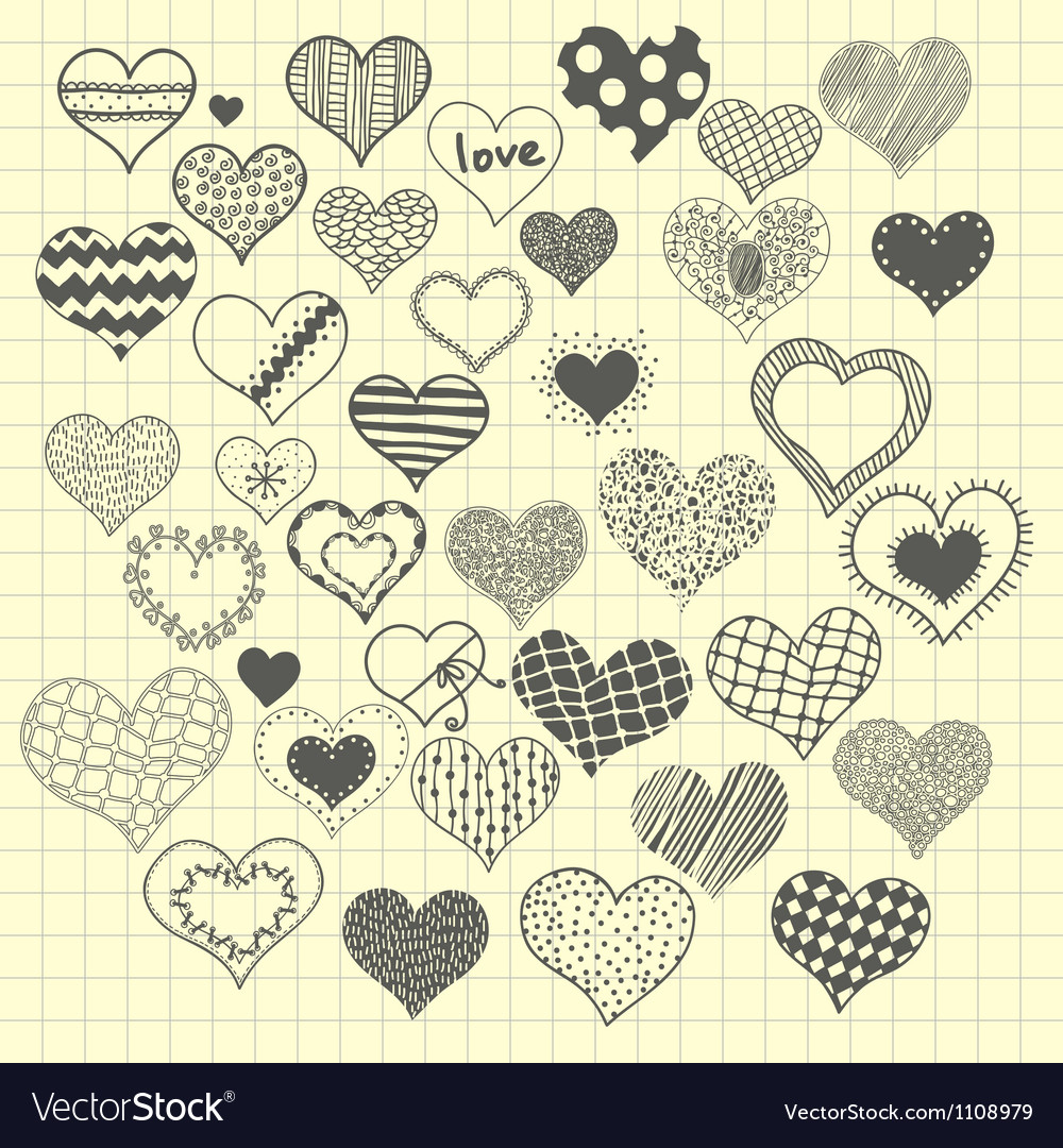 Sketchy heart vector | Price: 1 Credit (USD $1)
