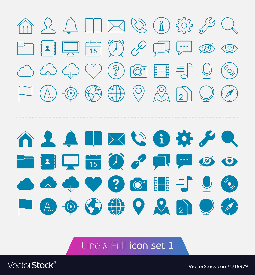Universal basic set 1 vector | Price: 1 Credit (USD $1)