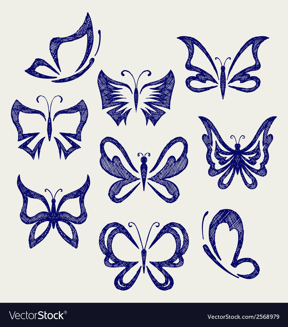 Various butterflies vector | Price: 1 Credit (USD $1)