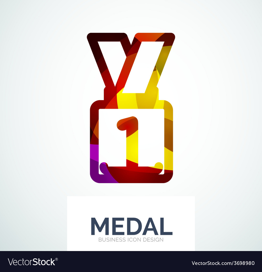 Colorful award business logo vector   Price: 1 Credit (USD $1)