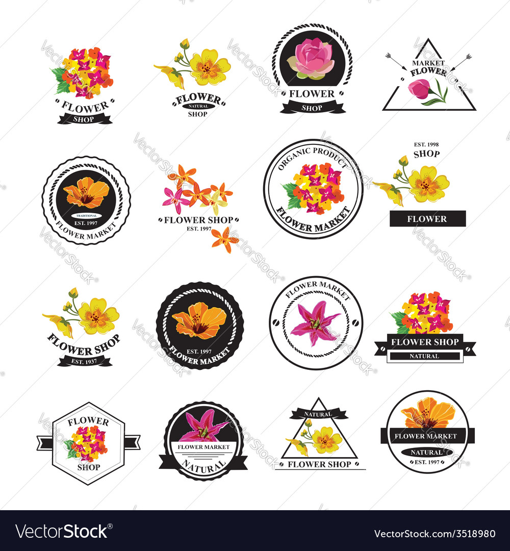 Flower shop icons vector | Price: 1 Credit (USD $1)