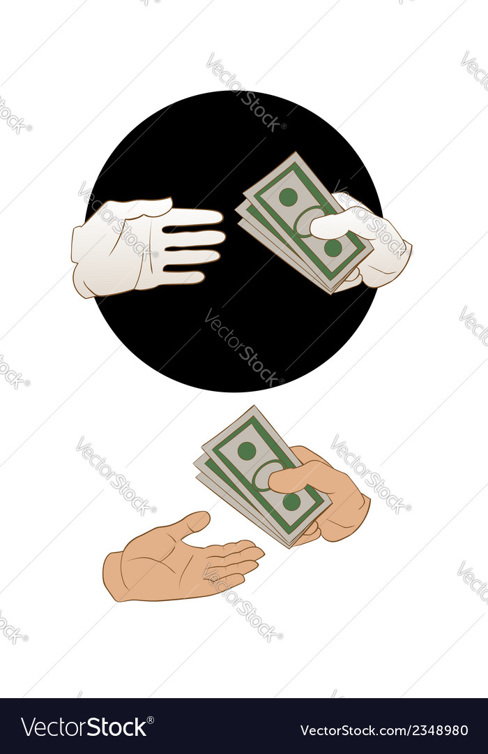 Giving money vector | Price: 1 Credit (USD $1)