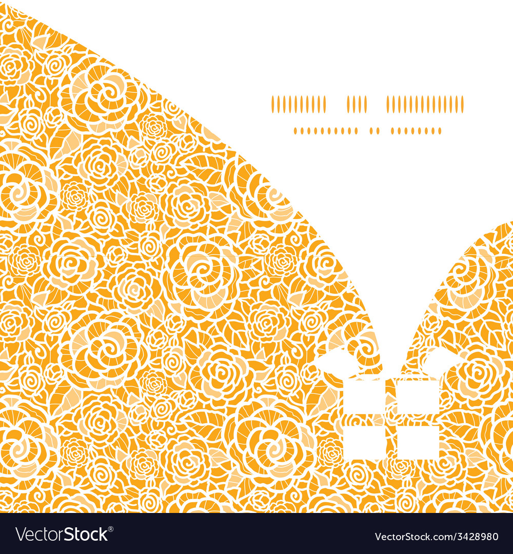 Golden lace roses christmas gift box silhouette vector | Price: 1 Credit (USD $1)