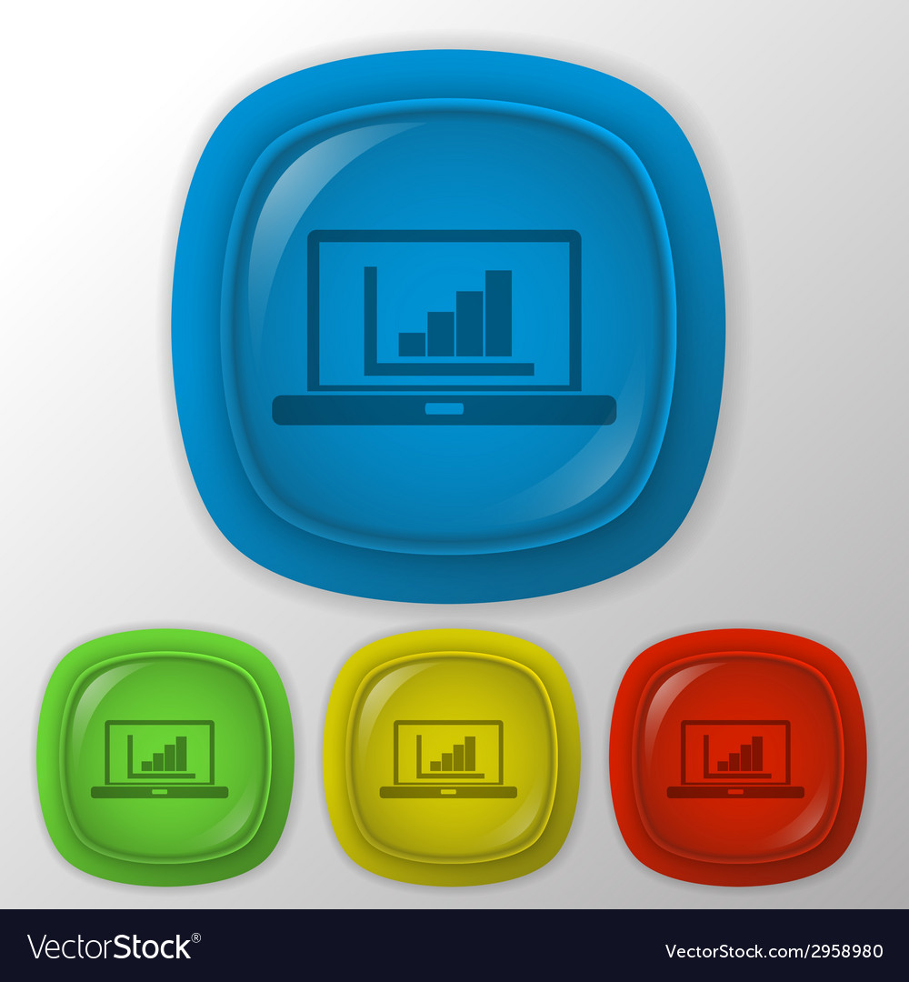 Laptop with symbol diagram vector | Price: 1 Credit (USD $1)