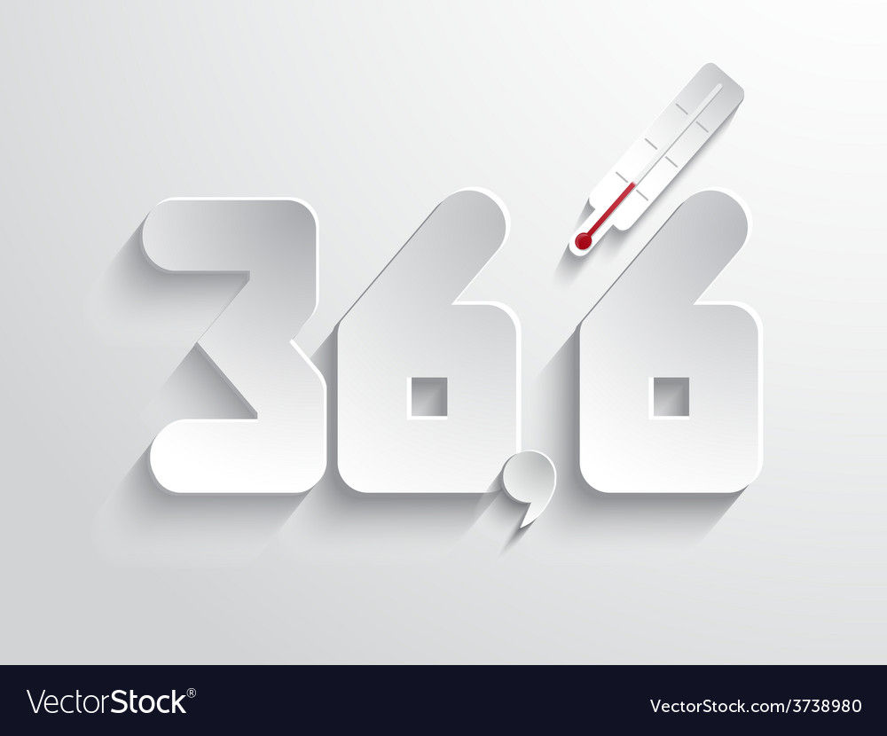Normal body temperature symbol - white vector | Price: 1 Credit (USD $1)