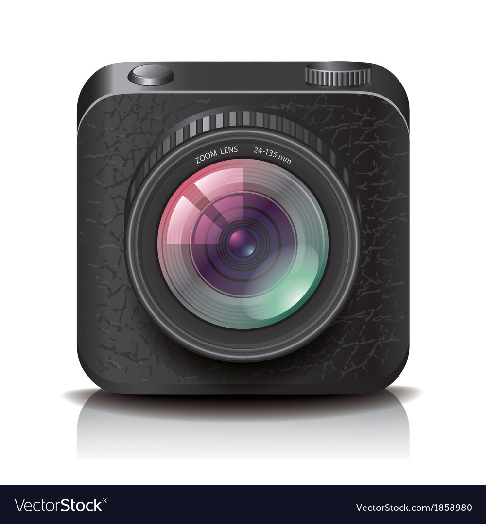 Object camera apps icon black vector | Price: 1 Credit (USD $1)