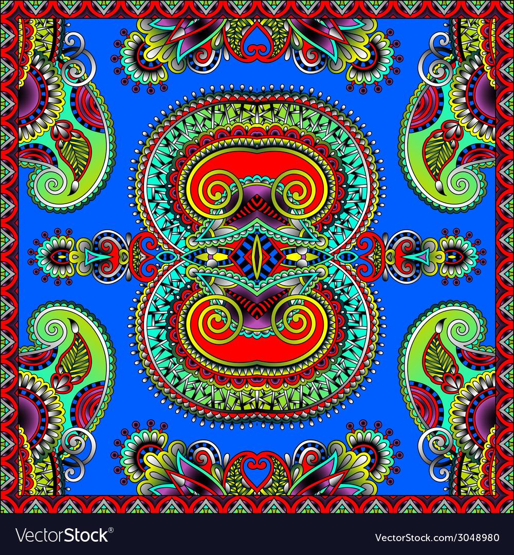 Traditional ornamental floral paisley bandanna vector   Price: 1 Credit (USD $1)