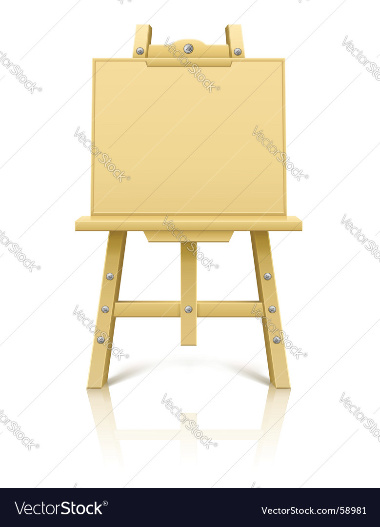 Artist's easel vector | Price: 1 Credit (USD $1)