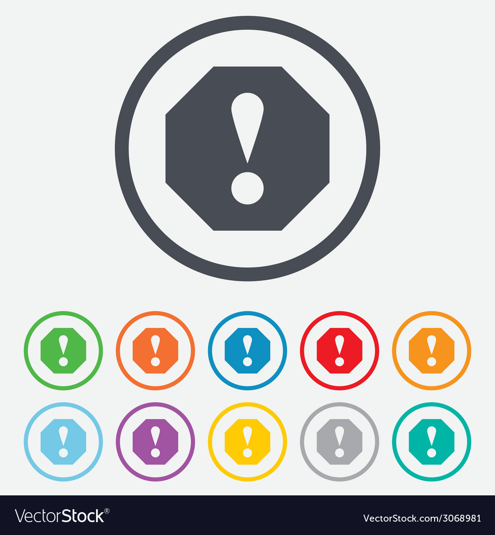 Attention sign icon exclamation mark vector   Price: 1 Credit (USD $1)
