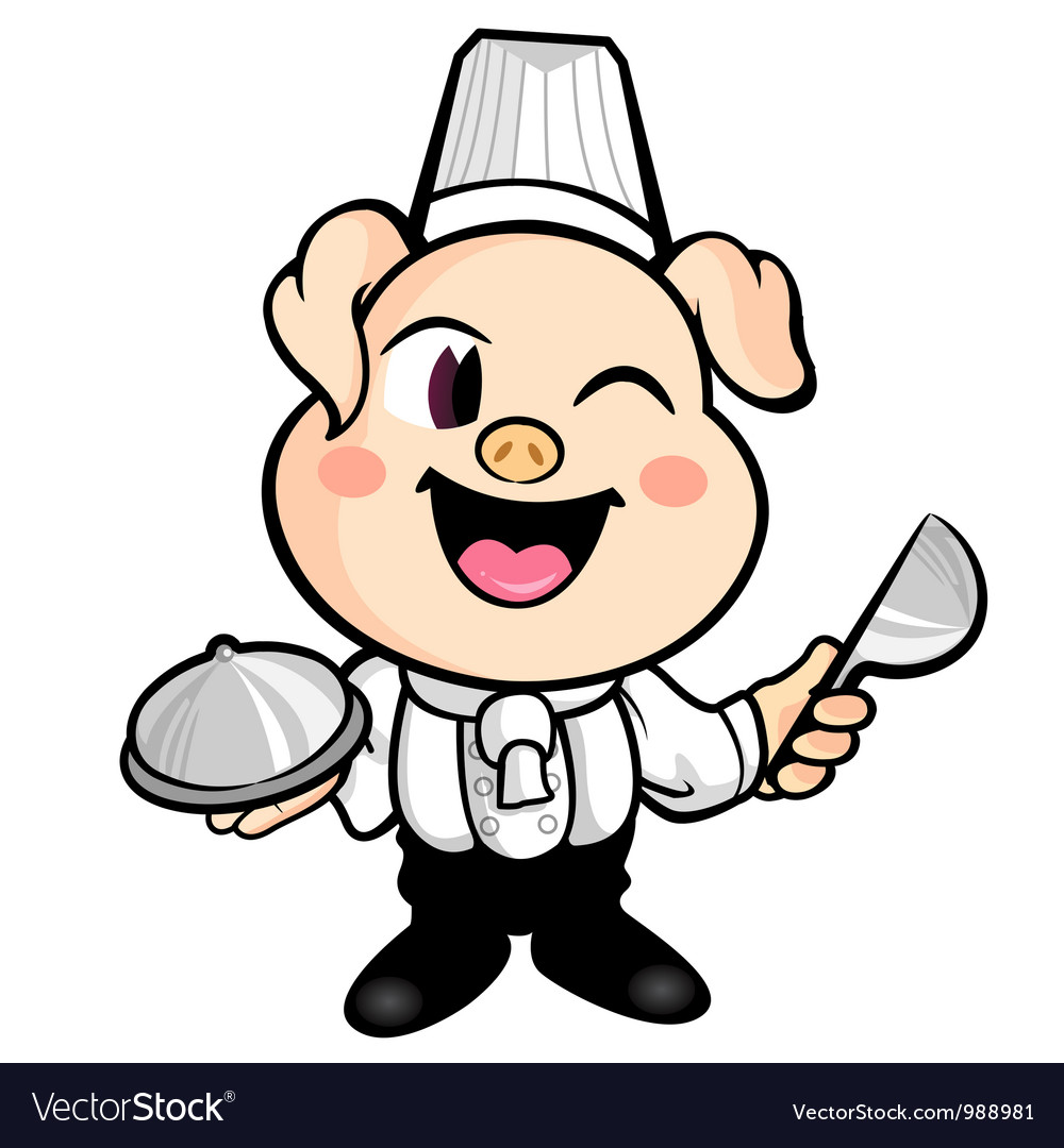 The best pig chefs smile vector | Price: 3 Credit (USD $3)