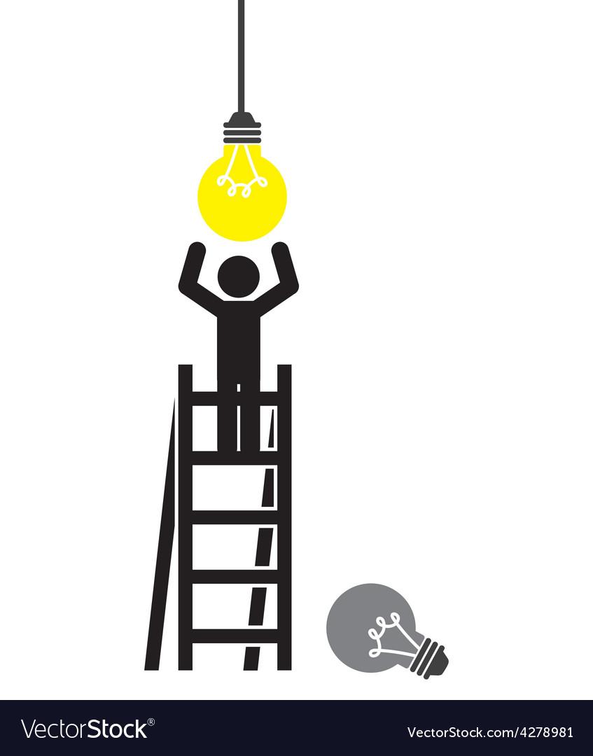 Bulb light vector | Price: 1 Credit (USD $1)