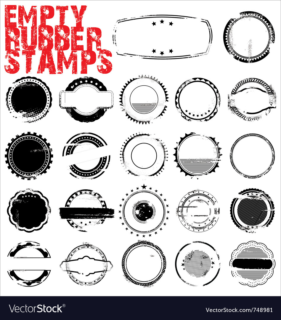 Empty grunge rubber stamps vector | Price: 1 Credit (USD $1)