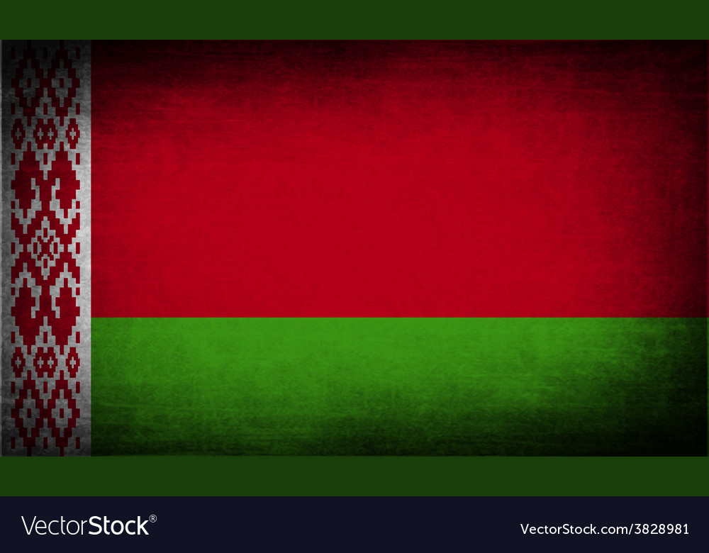 Flag of belarus with old texture vector | Price: 1 Credit (USD $1)