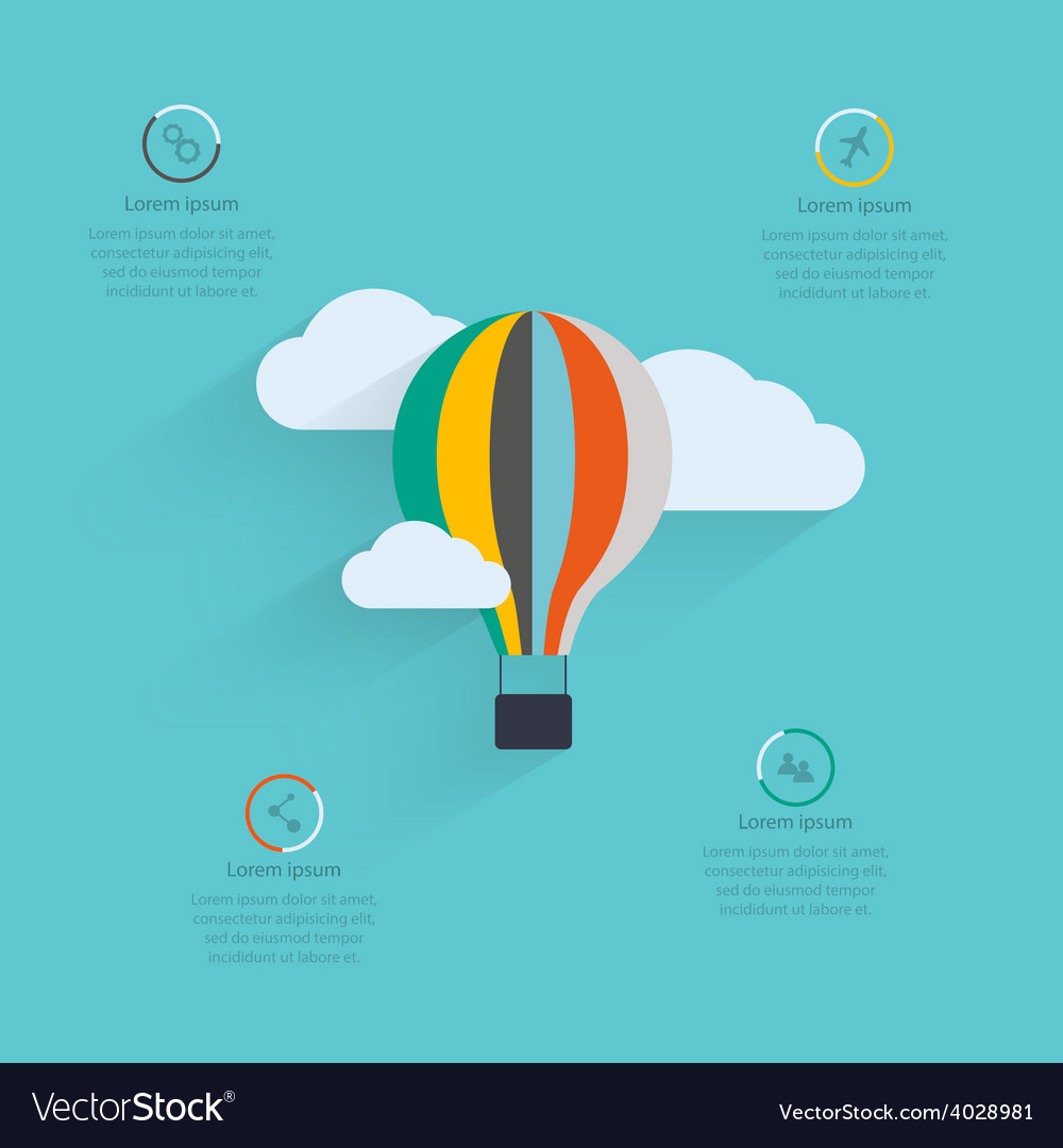 Flat design of the startup process cloud storage vector | Price: 1 Credit (USD $1)
