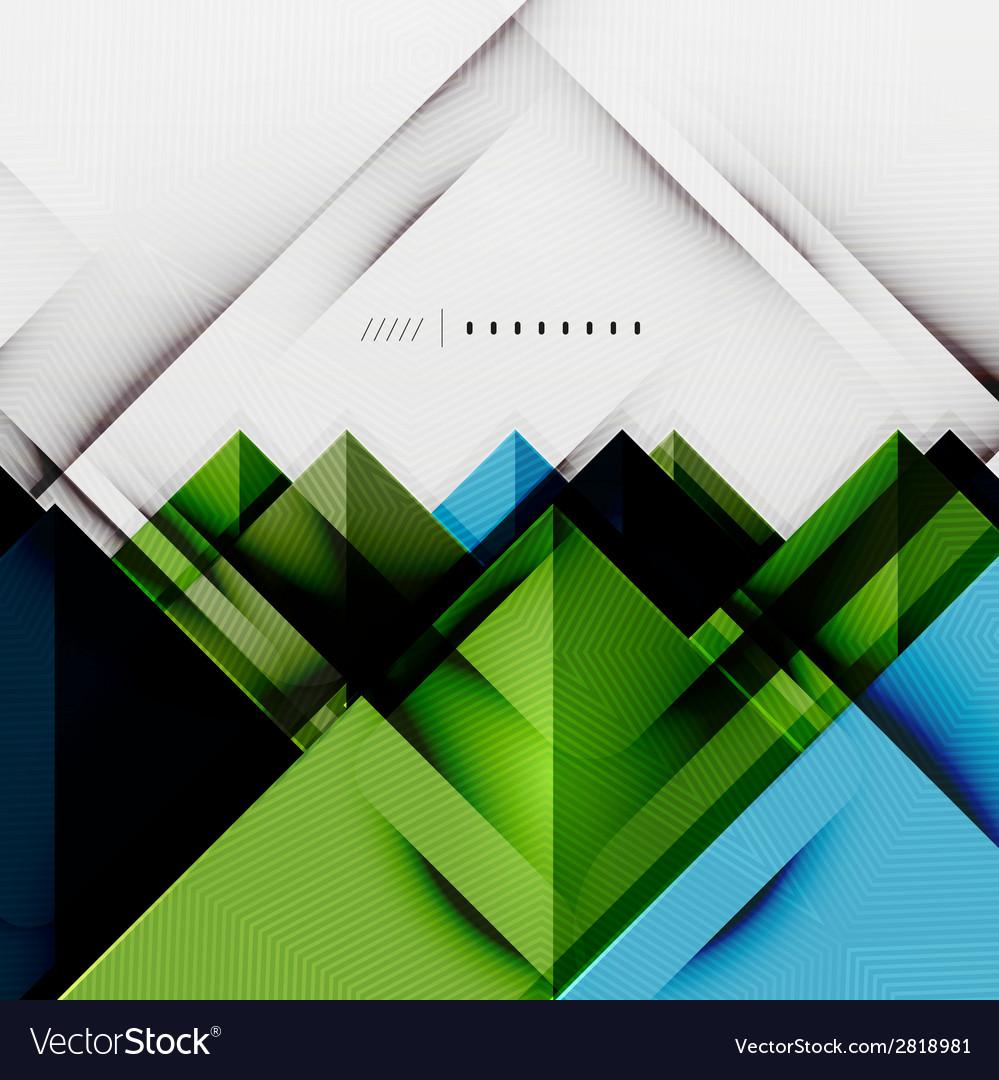 Geometric squares and rhombus futuristic template vector | Price: 1 Credit (USD $1)