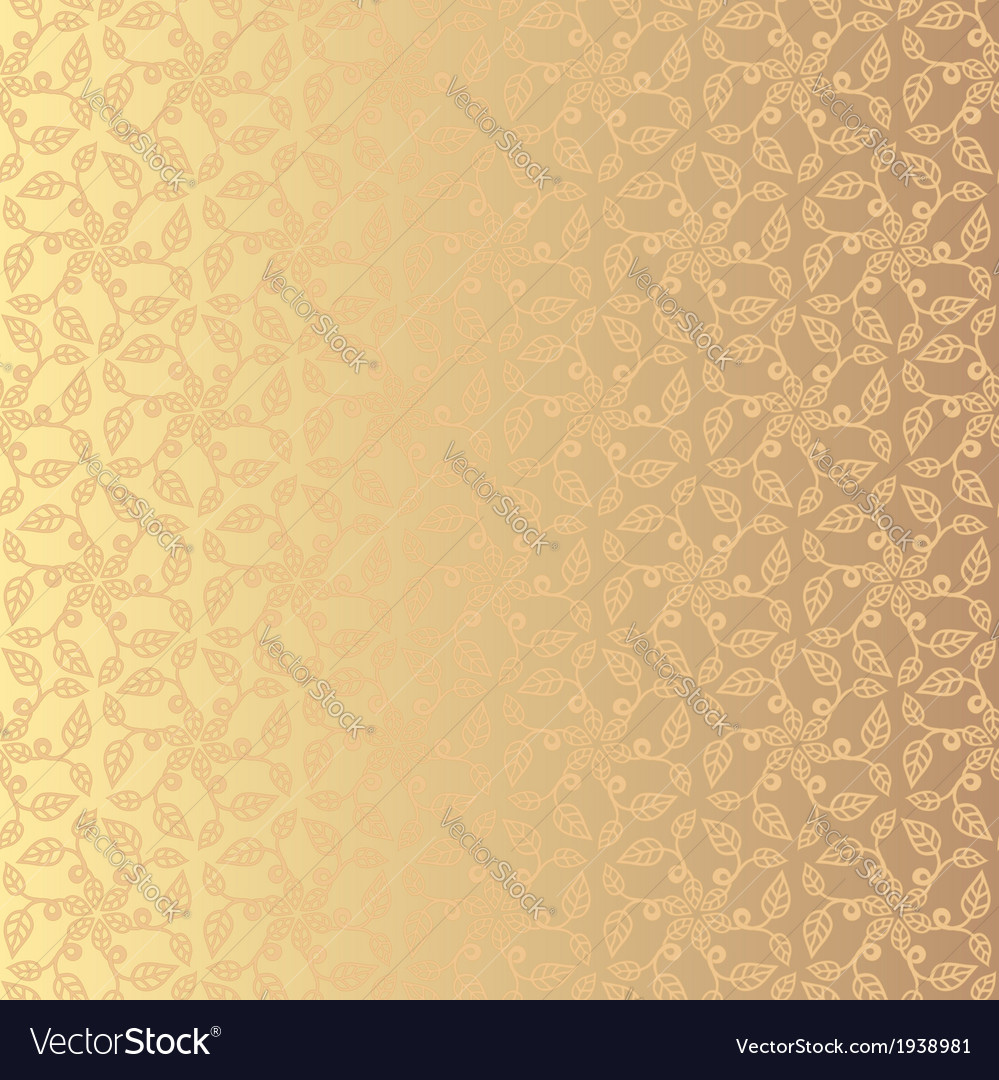 Golden floral background eps 8 vector | Price: 1 Credit (USD $1)