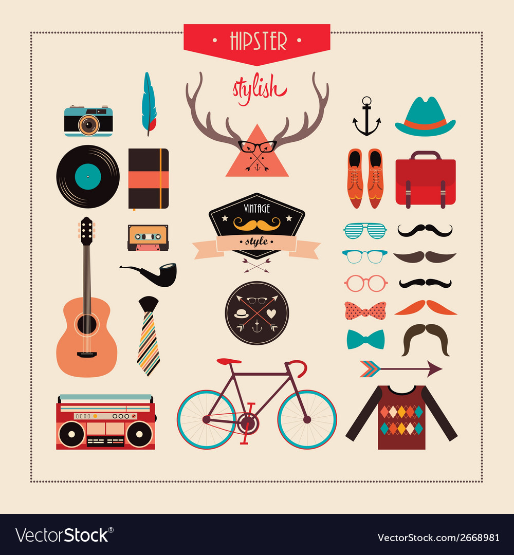 Hipster stuff vector | Price: 1 Credit (USD $1)