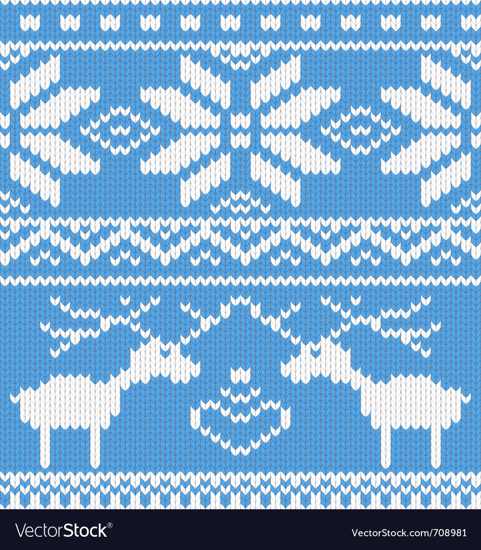 Knitted deer pattern vector | Price: 1 Credit (USD $1)
