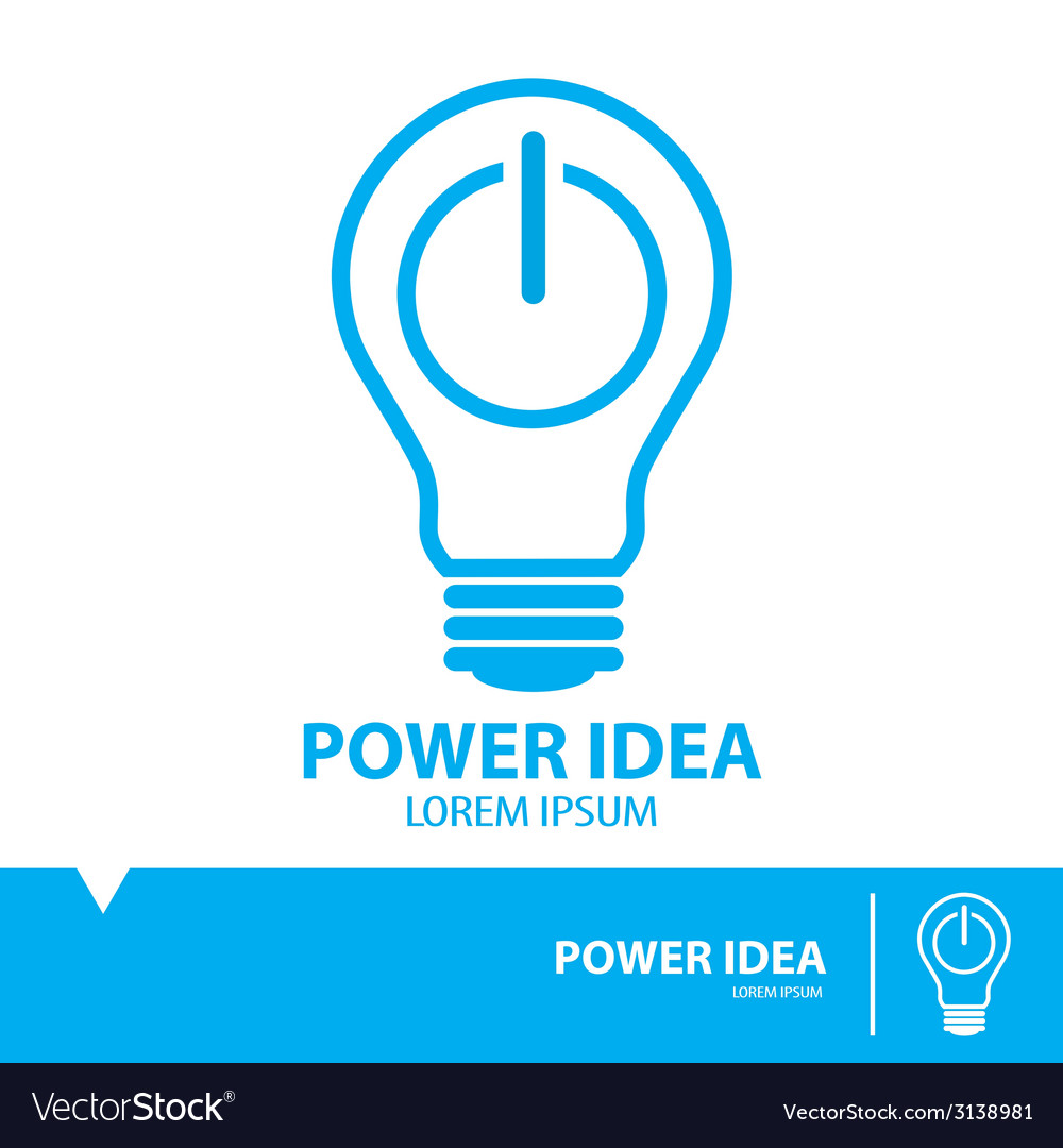 Power idea symbol icon vector | Price: 1 Credit (USD $1)