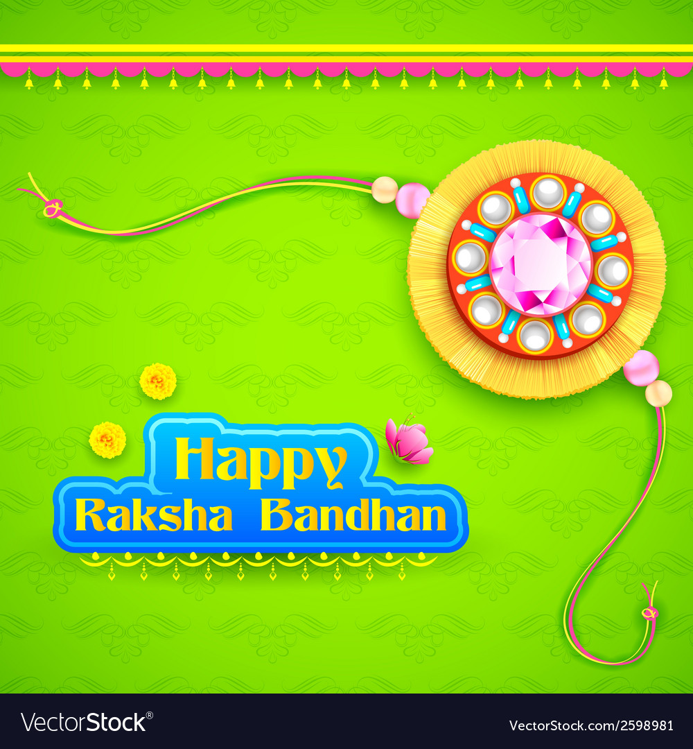 Raksha bandhan background vector | Price: 1 Credit (USD $1)