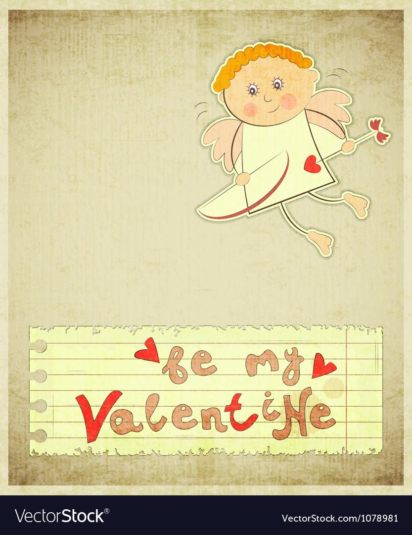 Retro valentines day card vector   Price: 1 Credit (USD $1)
